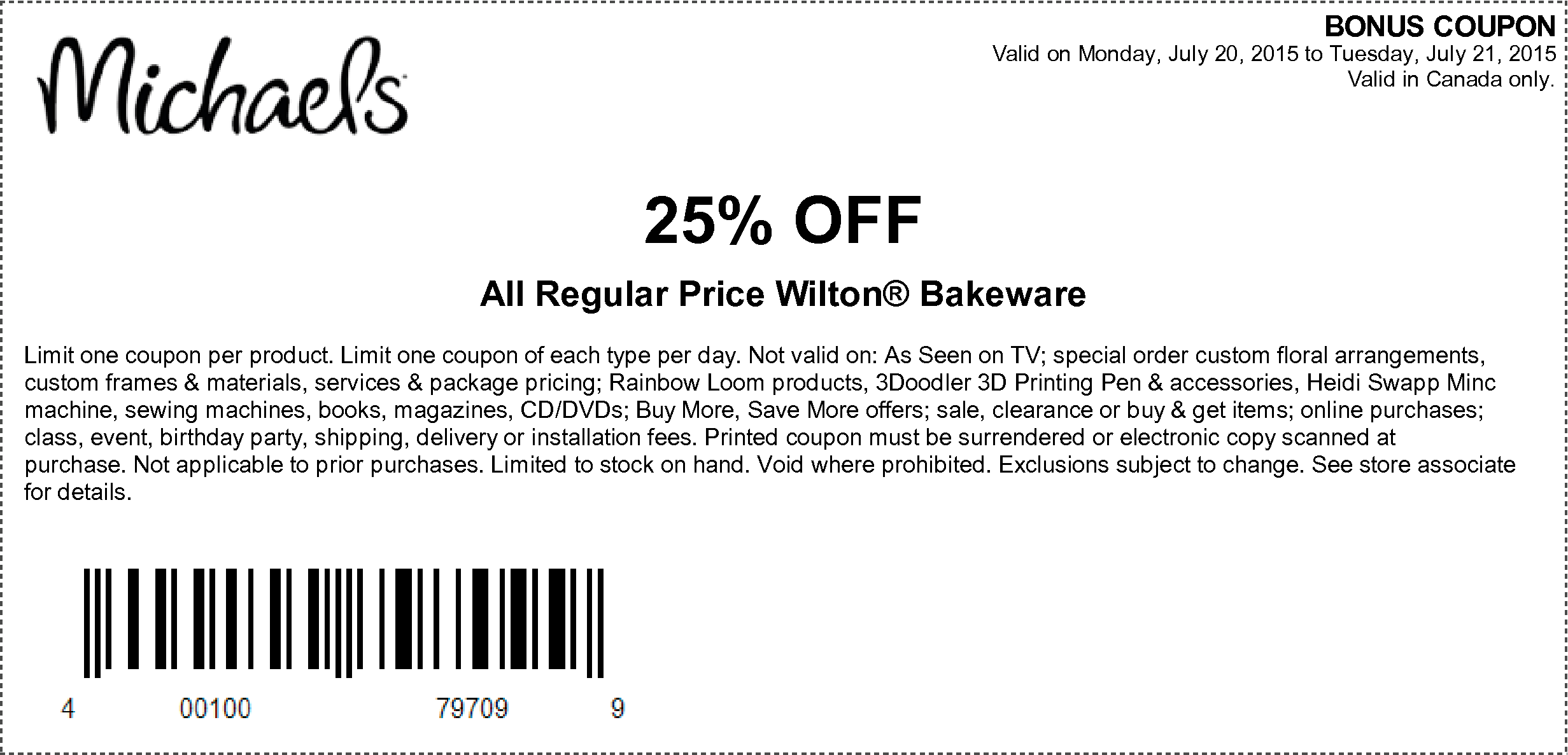 Michaels Coupons Take 40 Off One Regular Priced Item 25