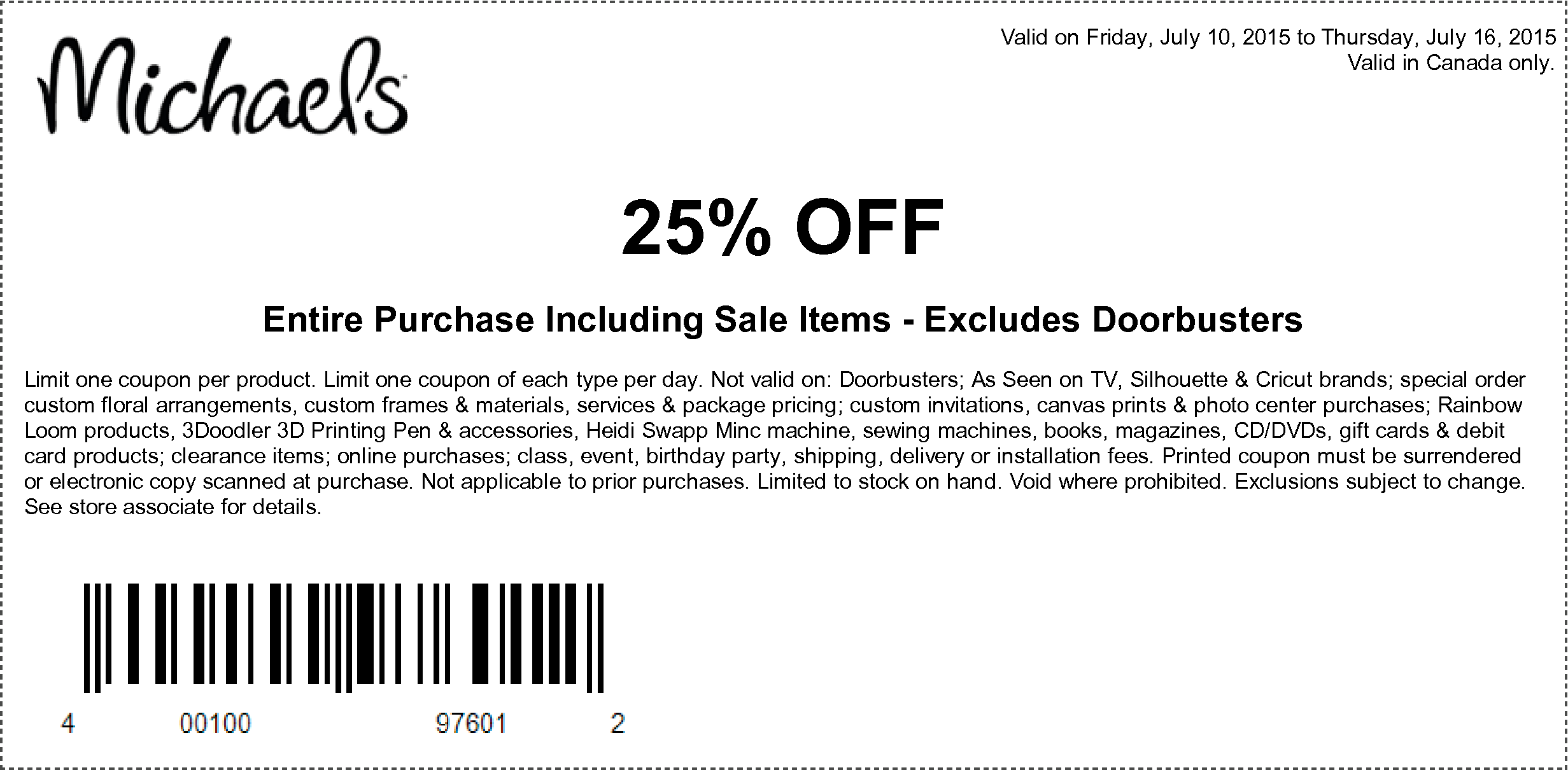 Michaels Coupons 25 Off Entire Purchase Discount Shell Gift Cards